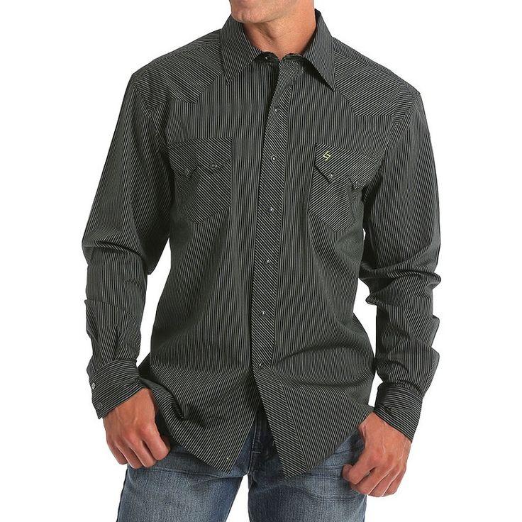 Garth Brooks Sevens by Cinch Black Striped Print Shirt