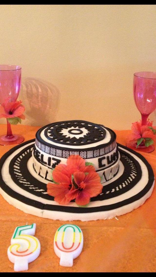 Sombrero volteao cake