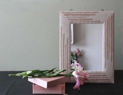 Fawn Jute Mirror