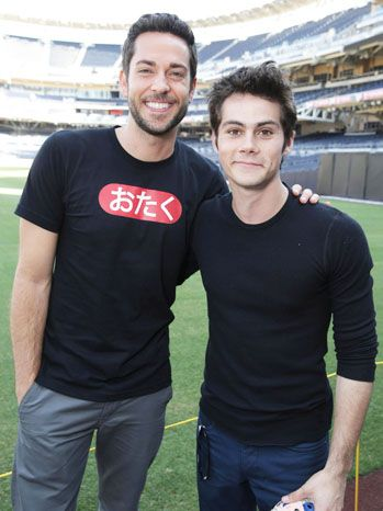 Zachary Levi and Dylan O'Brien Chuck star Zachary Levi and Teen Wolf's Dylan O'Brien pose at Fox's The Maze Runner panel. O'Brien stars in the adaptation of the 2009 young adult sci-fi book.