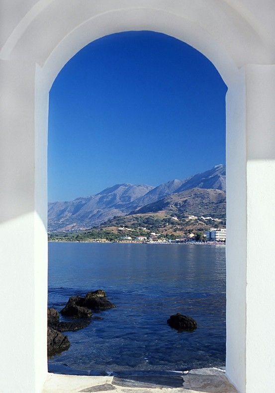 Ocean Arch, Mykonos, Greece- Oh I love Mykonos, never knew the sky or the water could be so blue. I have to go back!