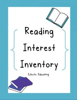 Use this reading interest inventory to learn more about your students as readers. Find out valuable information about their reading habits and preferences. Appropriate for use at the elementary level.