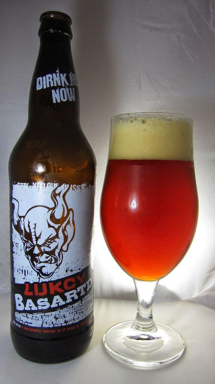 White apron ale - Stone Lucky Bastard Ale 2014 Gorgeous Maroon Cherry Red Hue Transparent