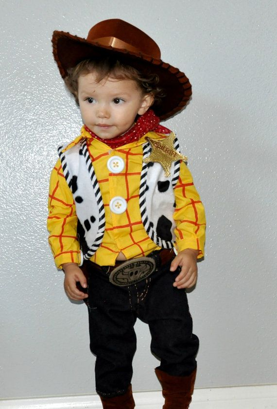 woody toy story inspired costume boys babies kids children infants toddler halloween costumes school event.. $179.00, via Etsy.
