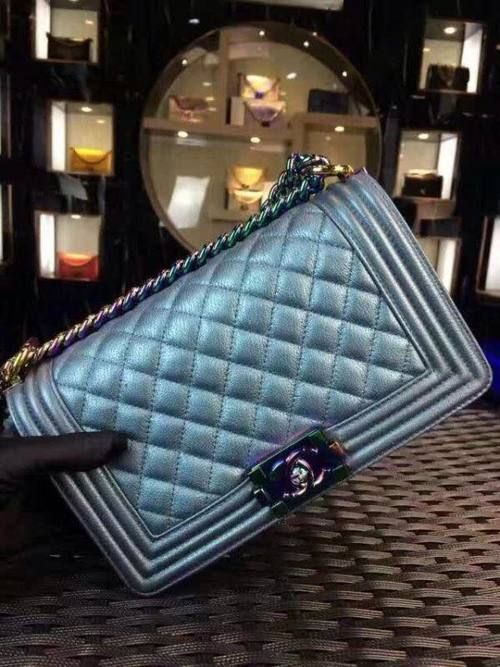 305e3bb24e1e Limited edition Boy Chanel flap bag with Iridescent Hardware from the Cruise