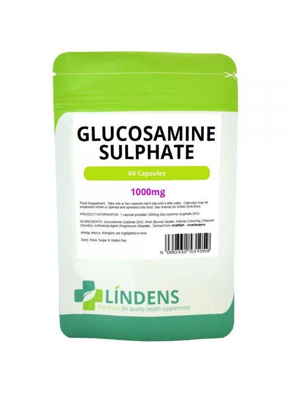 Glucosamine Sulphate 500mg £6.89 1000mg of shellfish-derived glucosamine sulphate per capsule