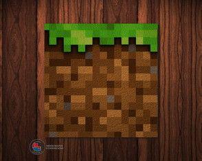 Adesivo Caixa Acrílica Grama Minecraft