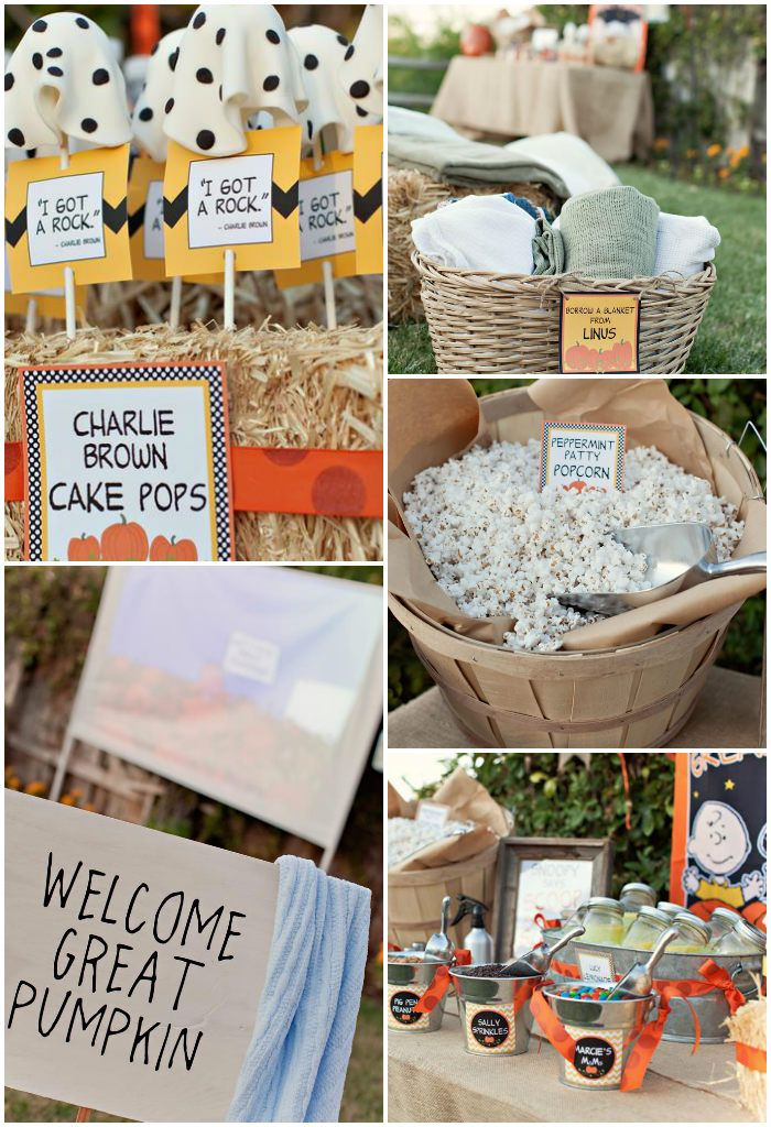 Charlie Brown Great Pumpkin Party with TONS of Ideas via KarasPartyIdeas.com