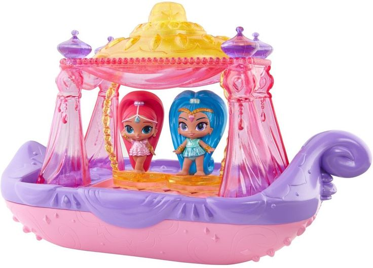 Shimmer & Shine Swing Splash Genie Boat Toys For Girls Play Christmas Gift NEW  #FisherPrice