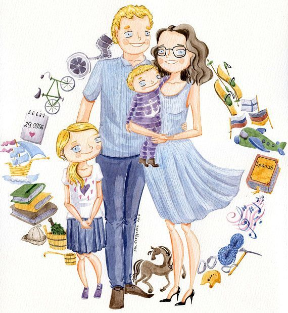 Learn To Draw Faces Family Cartoon Family Drawing Custom