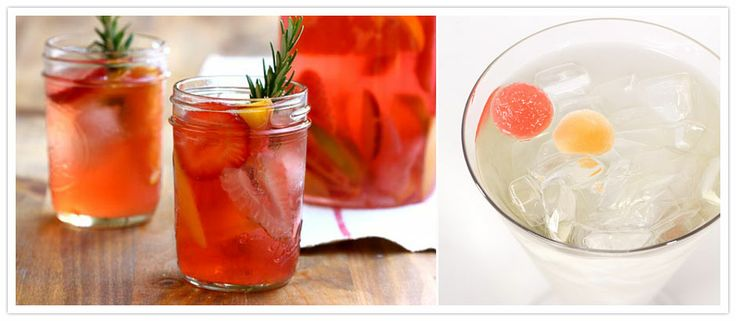 This Strawberry Rosemary Sangria is an interesting twist on an old favourite and there's nothing quite as refreshing as a classic White Wine Spritzer to start the night.