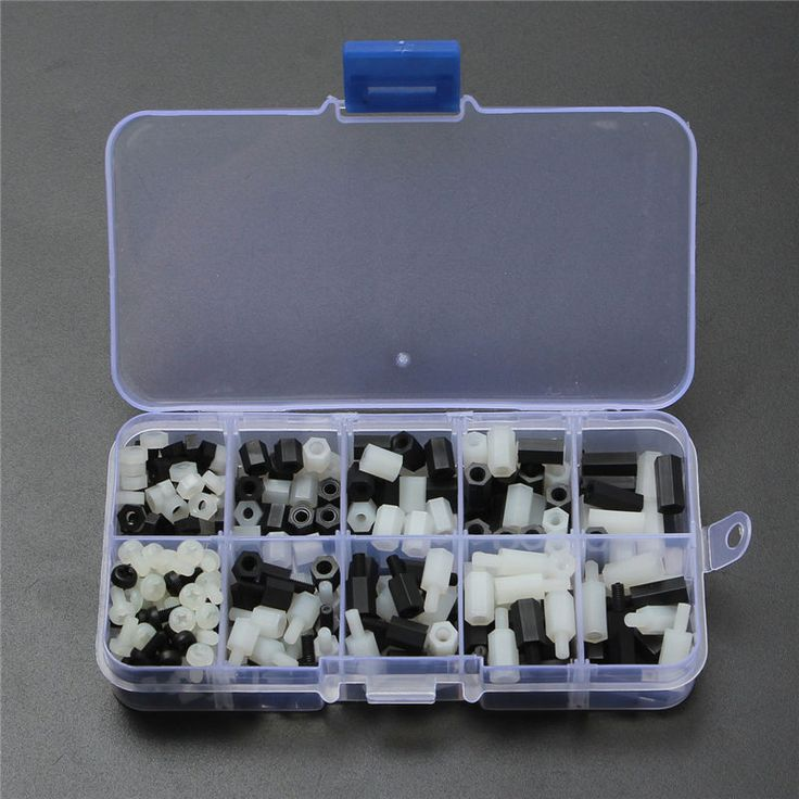 Best Promotion 300Pcs Hex Spacer M3 Screw Nylon Nut Separator Kit Stand Off Standoff Set PCB Black/White #jewelry, #women, #men, #hats, #watches, #belts