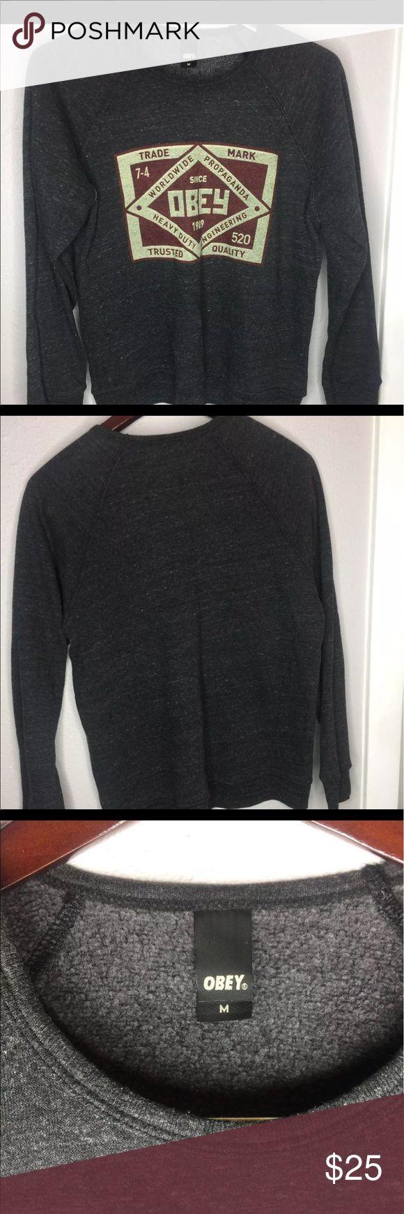 Obey sweatshirt Comfy obey sweatshirt no flaws Obey Tops Sweatshirts & Hoodies