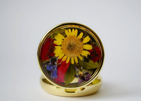 pillbox real flowers pill box pill holder pill от FloralCover
