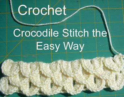 Crocodile stitch Love this stitch. I used it on a baby blanket that I am turning into a hooded blanket with a tail for dress up :)