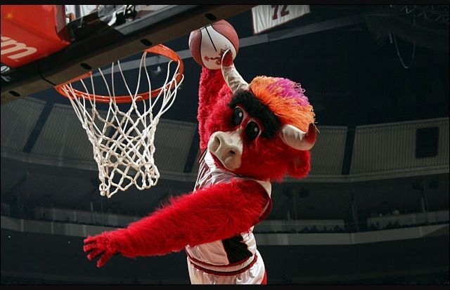 Benny the Bull is the mascot for the Chicago Bulls. He's the same color as the Bulls logo. His target audience are families who enjoy watching basketball.