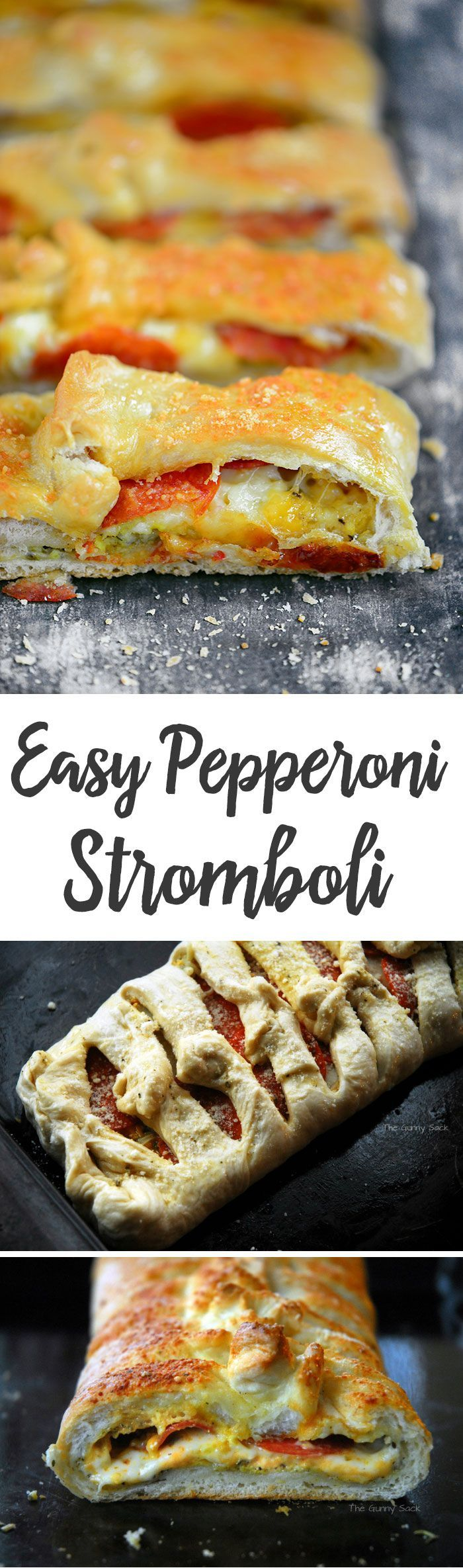 This Easy Pepperoni Stromboli recipe is a family favorite. Crave-worthy bread dough wrapped around layers of cheese and pepperoni!