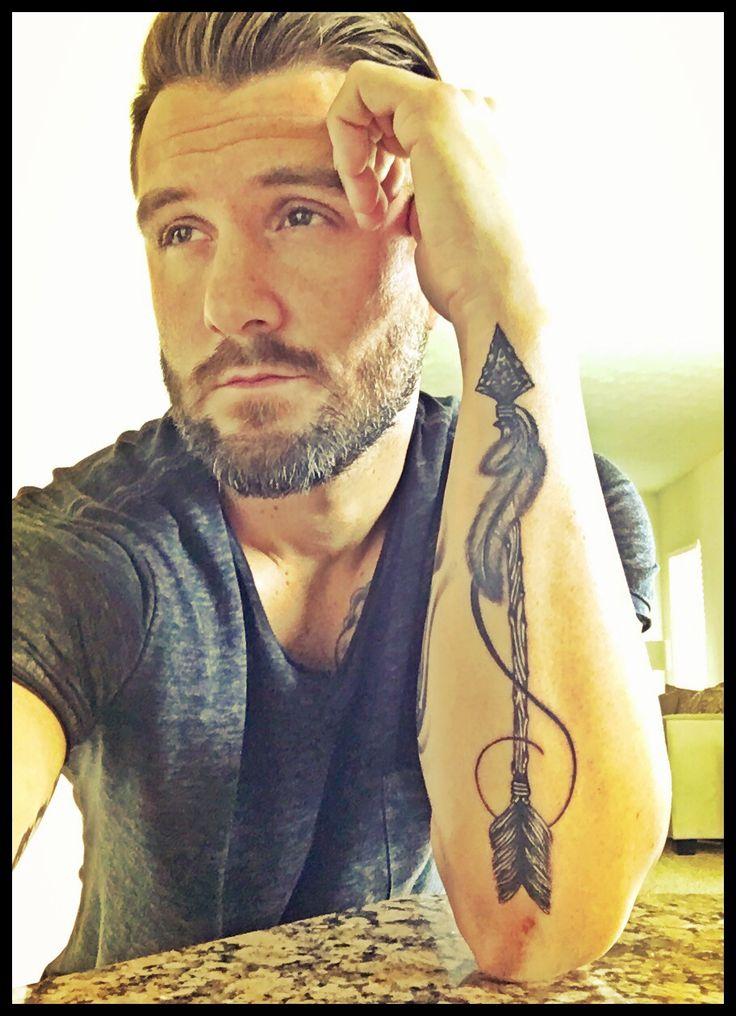 Nathan Mills, #forearm tattoo, #Arrow Tattoo  by: Caleb White, Dayton, Ohio
