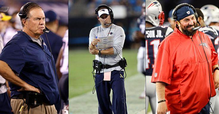 Patriots Head Coach Bill Belichick, Offensive Coordinator Josh McDaniels and…