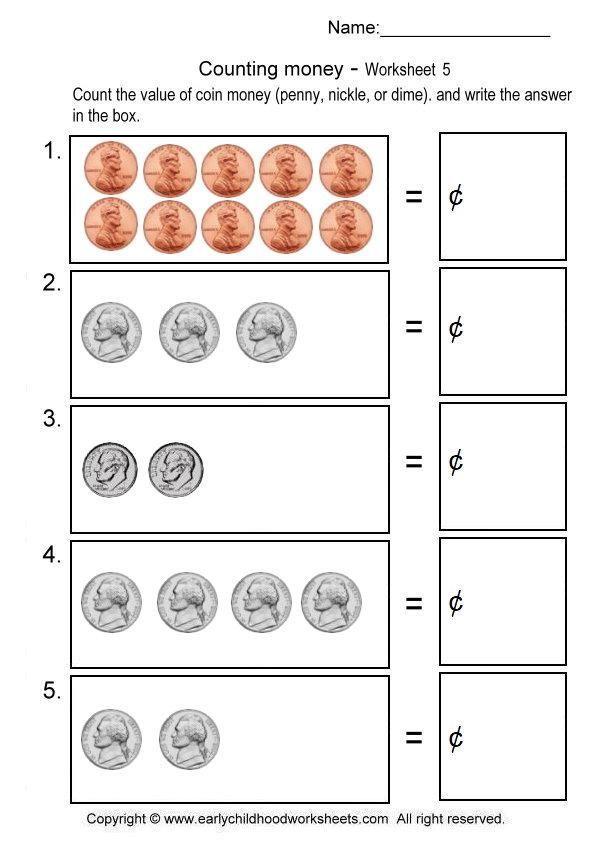 Counting Pennies Nickels Dimes Worksheet 5 Kindergarten Worksheets Kinderg In 2021 Kindergarten Money Worksheets Kindergarten Math Worksheets Counting Money Worksheets Counting dimes worksheets for kindergarten