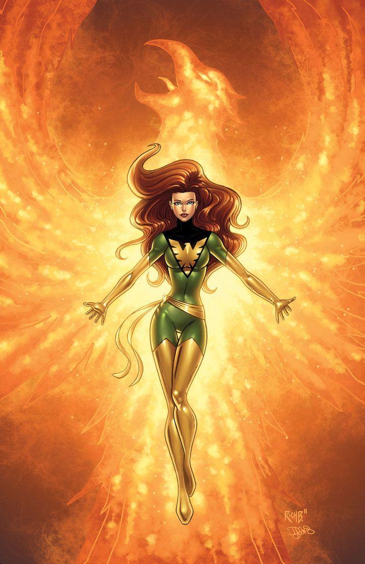 Phoenix Colored by *RichBernatovech on deviantART