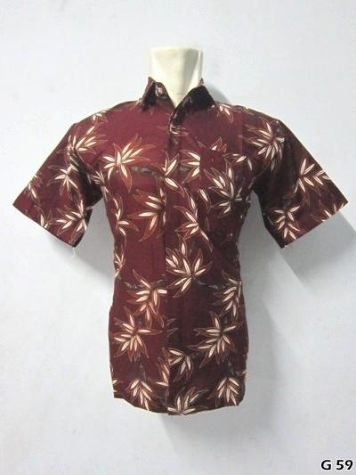 Kemeja Batik G59 | IDR 75.000 | Bahan : Katun | Size M, L, XL | Order : 081333303545
