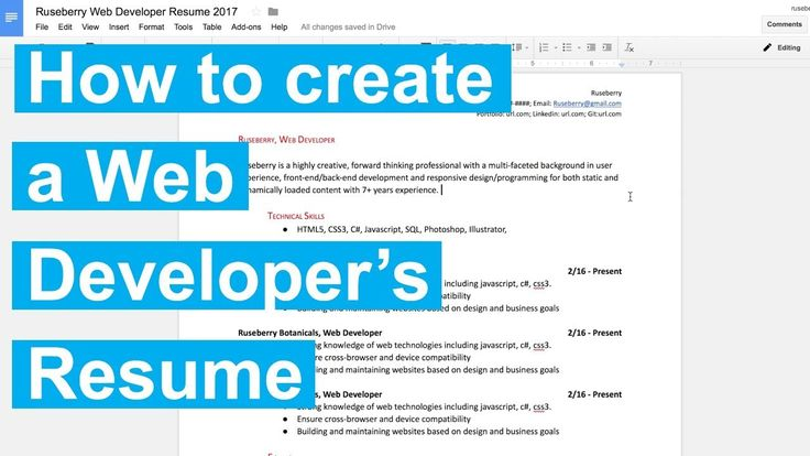 News Videos \ more - How to create a Web Developeru0027s Resume - front end developer resume