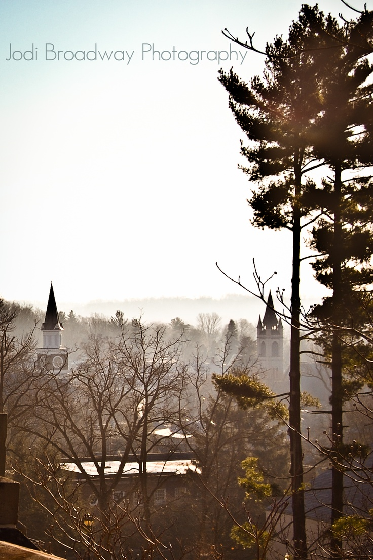 Granville Ohio - Morning view from Denison University - Photography