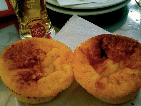 SuperBock beer and traditional muffins in Porto