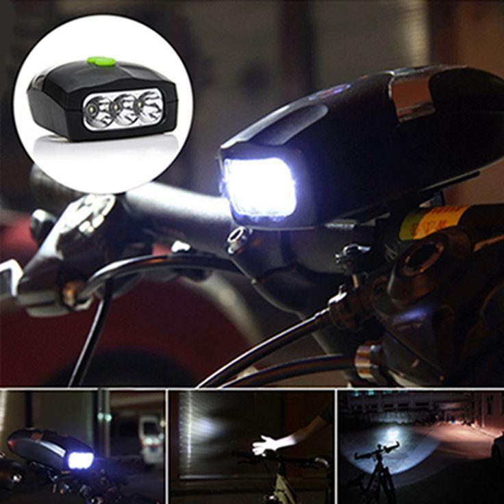 1 stks Nieuwe Fiets Licht Ultra Bright 3 LED Fiets Licht Waterdicht Fietsen Veiligheidswaarschuwing Lamp Elektronische Bel Hoorn Hooter sirene