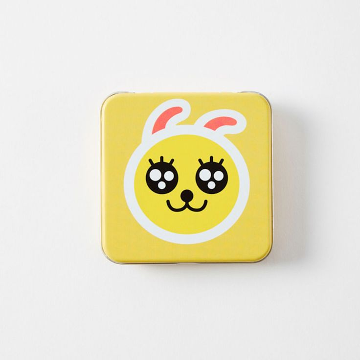 Korea Kakao Friends Charater Square Yello 9cm 3.5in Tin Case Muzi #KakaoFriends