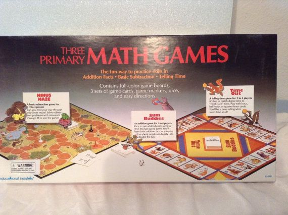 Three Primary math games by Educational insights Children Learning Game Home School