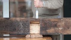 Those wooden railroad ties underneath the metal railroad tracks? Absolutely solid hunks of wood perfect for reclaimed furniture. Here's one being transformed into a stable wooden bench that can fit a whole lot of adults. The build is pretty simple too, all you need is a saw, a drill, and a chisel to pull it off.