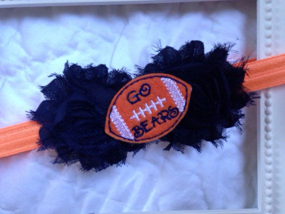 Chicago Bears headband Chicago bears baby by MiaBellaBands