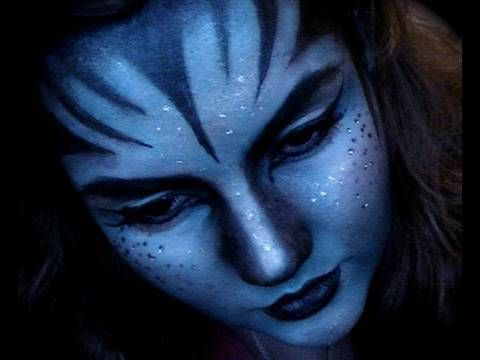 Na'vi Avatar makeup tutorial. Not what I'm doing for the ball, but good to know.