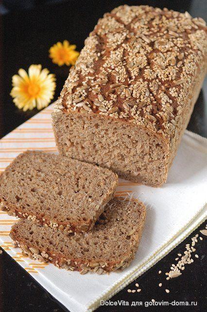 Ржаной хлеб с хлопьями и семечками (на закваске)
