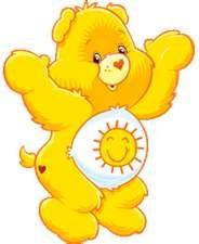 Can't help myself...Sunshine bear makes me smile and feel good