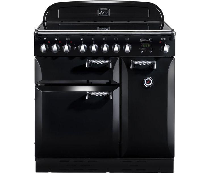 Freestanding Range Cookers Uk Part - 40: Rangemaster ELAS90EIBL Elan 90cm Electric Range Cooker - Black / Chrome