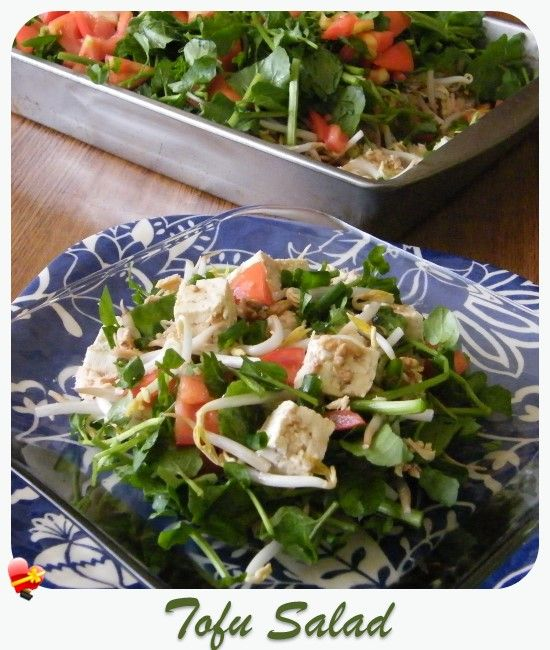 A delicious local favorite, Tofu Salad recipe with a shoyu style sauce. Get more local favorites here.