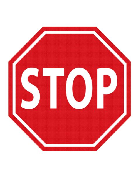 Education World: Stop Traffic Sign Template