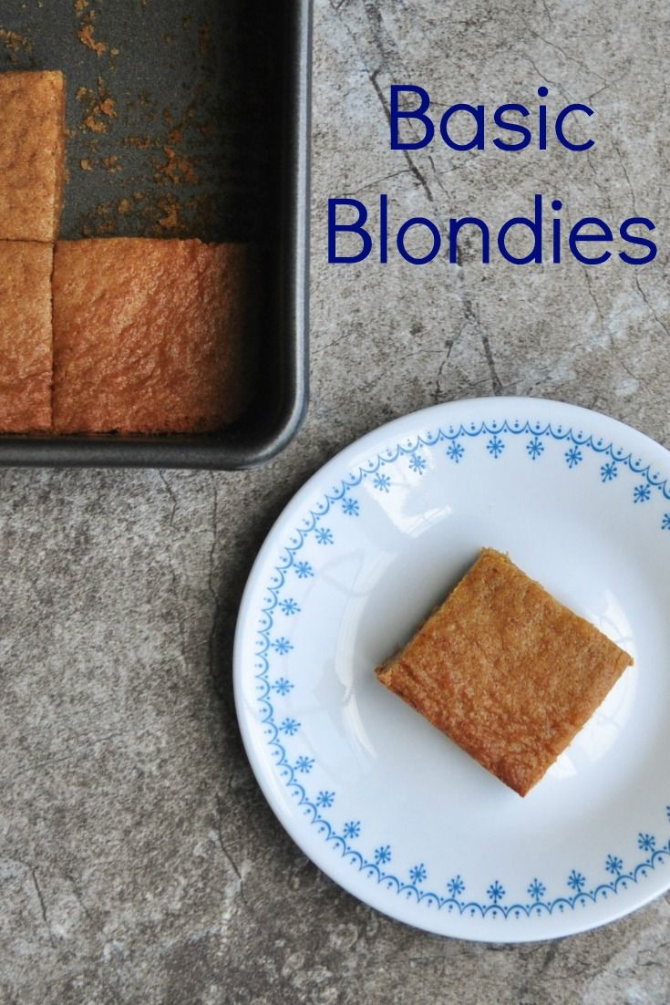 simple recipe for an 8x8 pan of classic blondies..