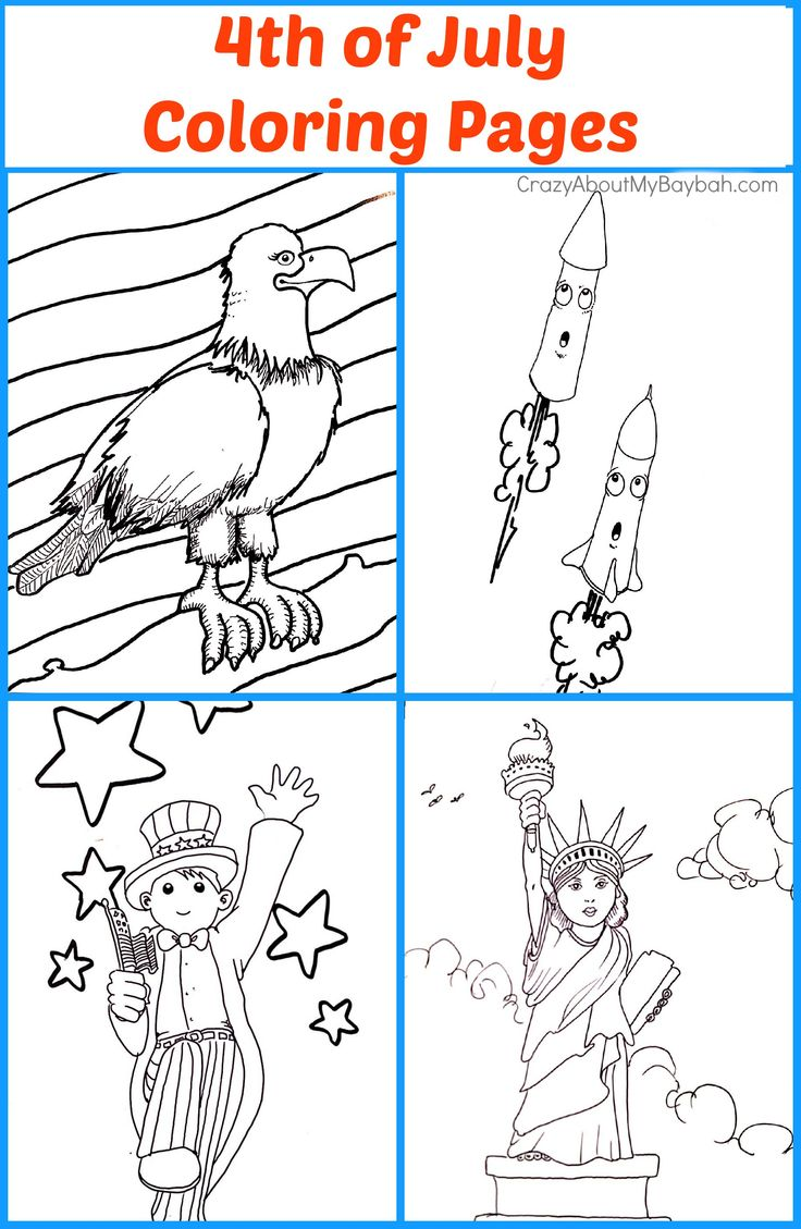 Free coloring pages for july 4th - Free Printables 4th Of July Coloring Pages