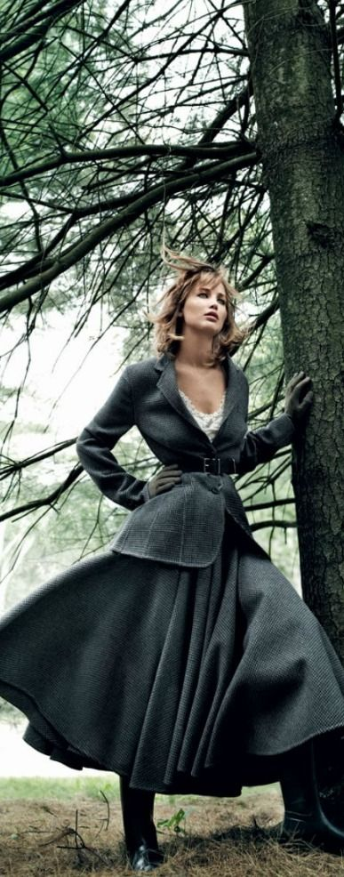 Jennifer Lawrence for Vogue September 2013 the jacket and skirt. The whole outfit. Just love.