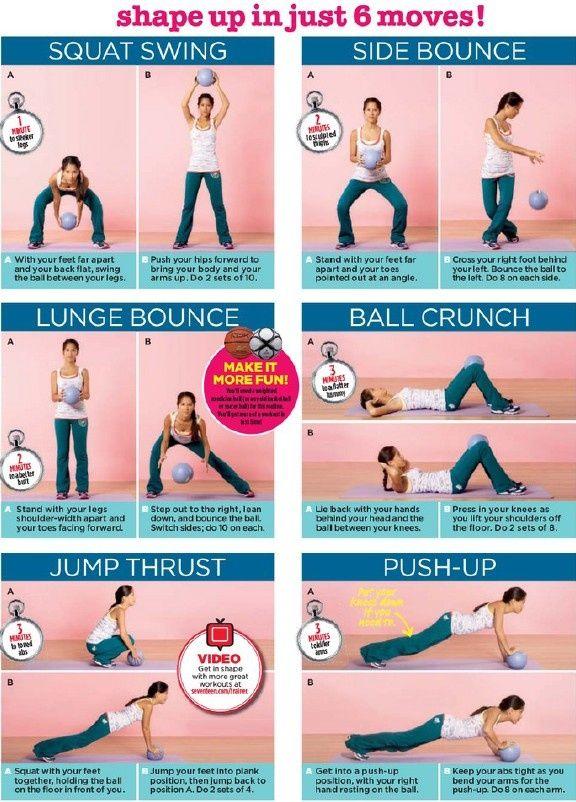 exercise w/ a medicine ball