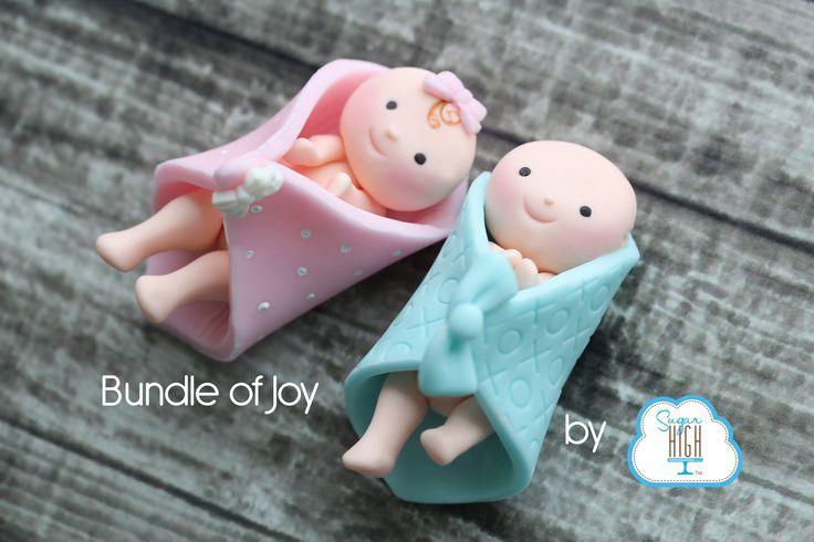 How To make a fondant baby Bundle of Joy! #babywatch #RoyalBaby #baby #girl #boy #babyshower