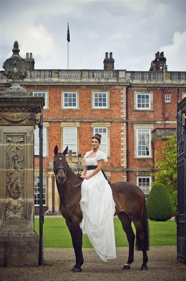 Perhaps Patience on her wedding day? I don't see her getting past learning to ride :)