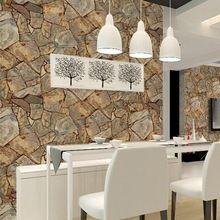 Natural de Pedra Papel De Parede do pvc 3d Decorativos de Parede para Bar Texturizado Falso papel De Parede De Pedra de Imitação(China (Mainland))