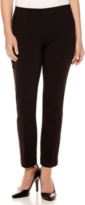 LIZ CLAIBORNE Liz Claiborne Braided-Trim Pants - Tall - Shop for women's Pants - Black Pants