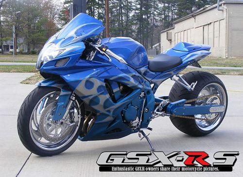 2007 GSXR 750   Custom Blue
