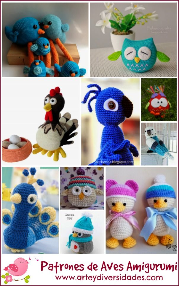 Diversidades: patrones gratis de crochet, amigurumi y manualidades: NUEVOS PATRONES DE AVES AMIGURUMI